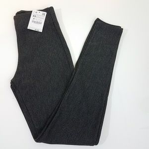 XS Gray ZARA BASIC Knitted Leggings
